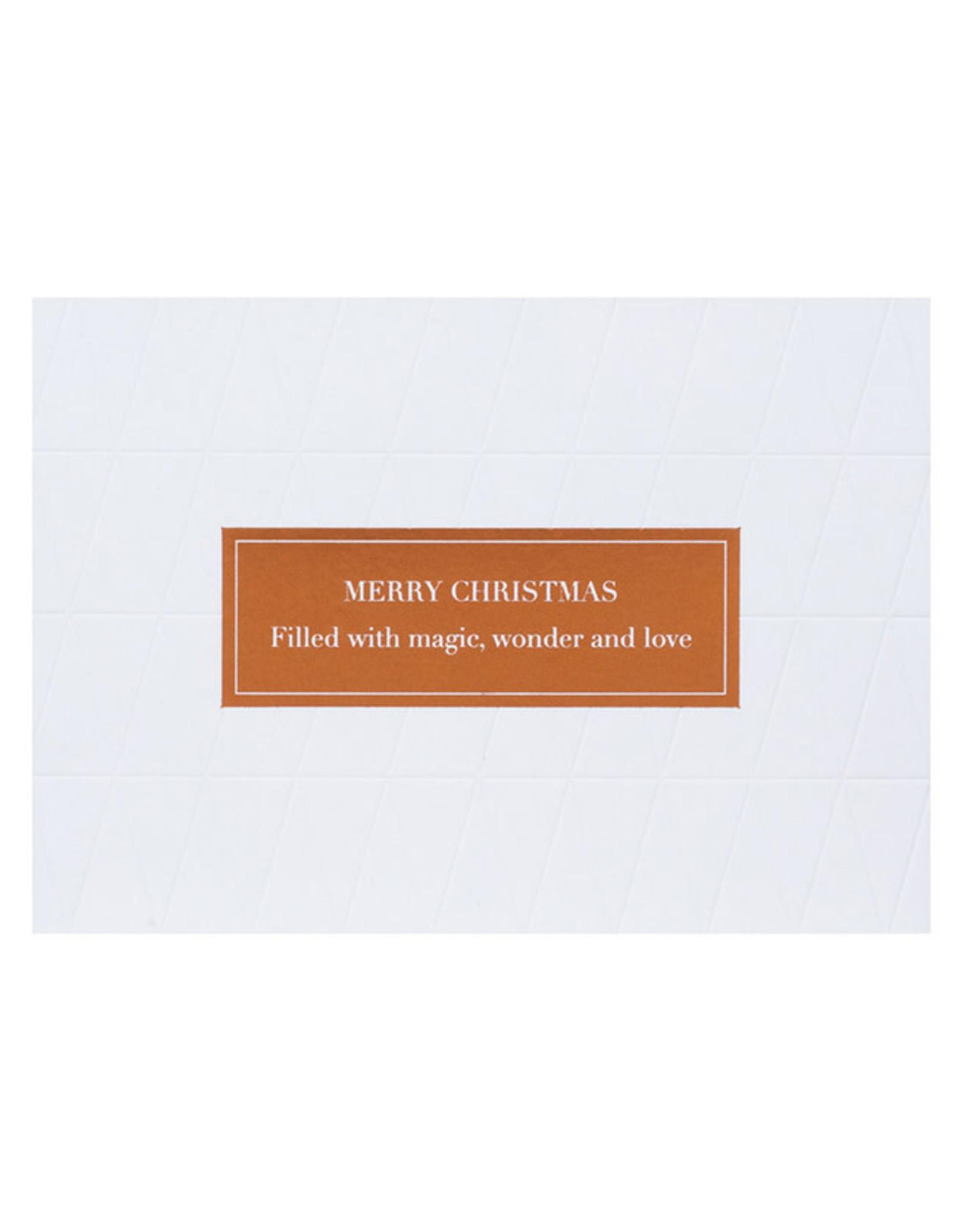 Räder Wenskaart Letterpress goldfoil-Merry Christmas