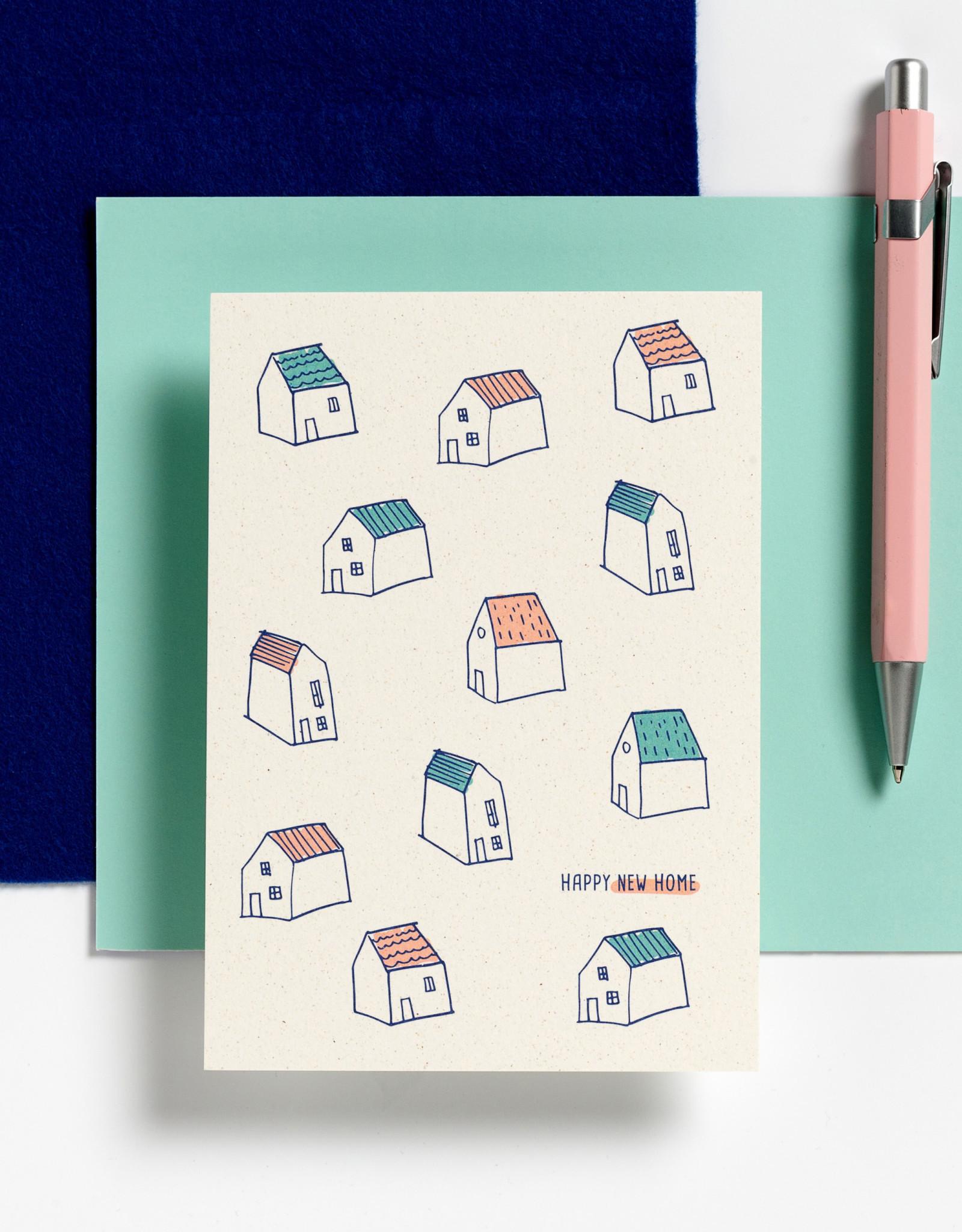 Hello August Wenskaart-Happy New Home
