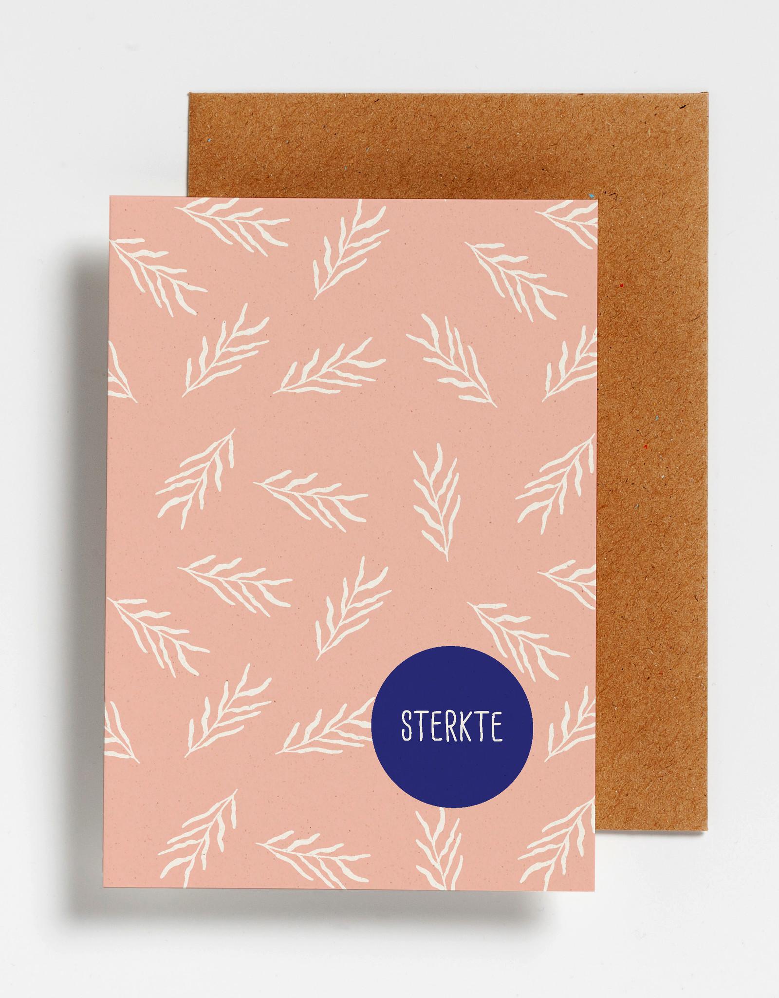 Hello August Wenskaart-Sterkte Leaves