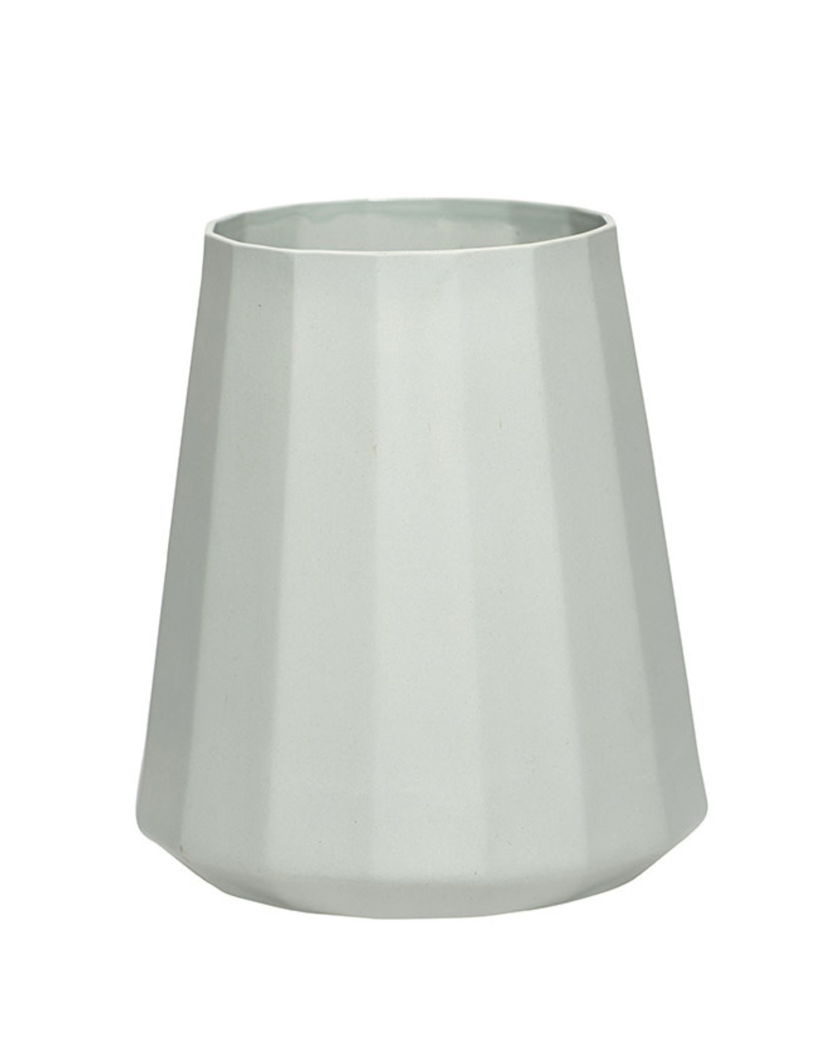 Vaas Stripe Porcelain ø18xh19cm-soft  green