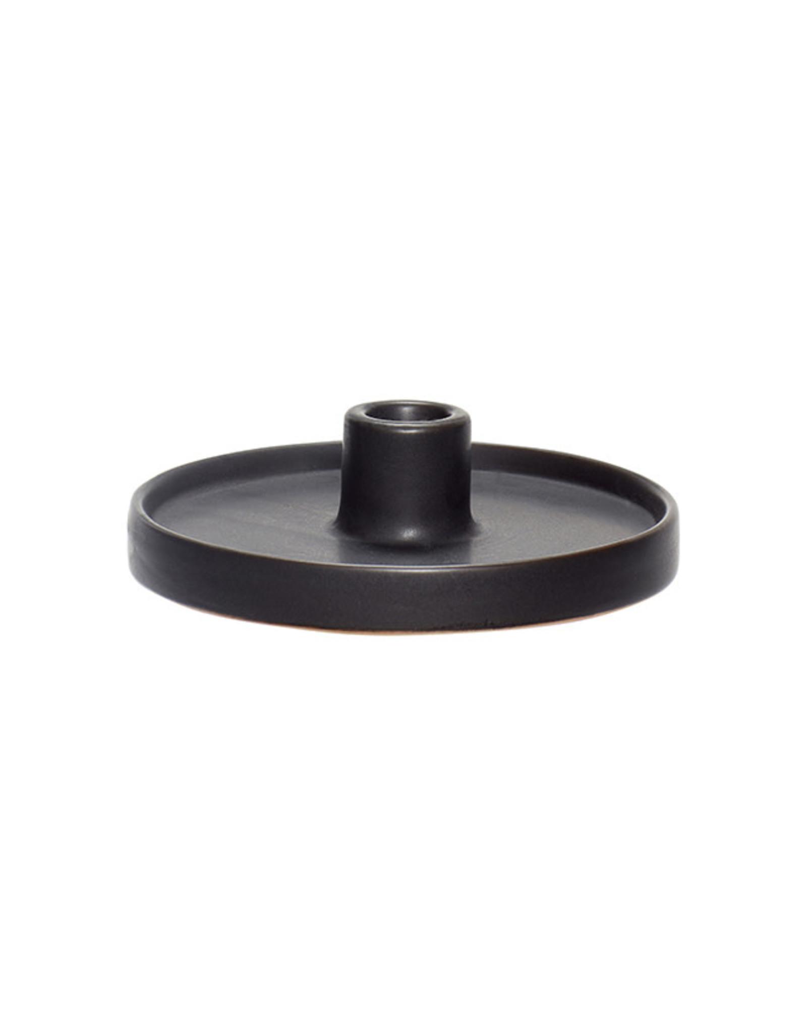 Kaarsenhouder Porcelain ø16xh4cm-black