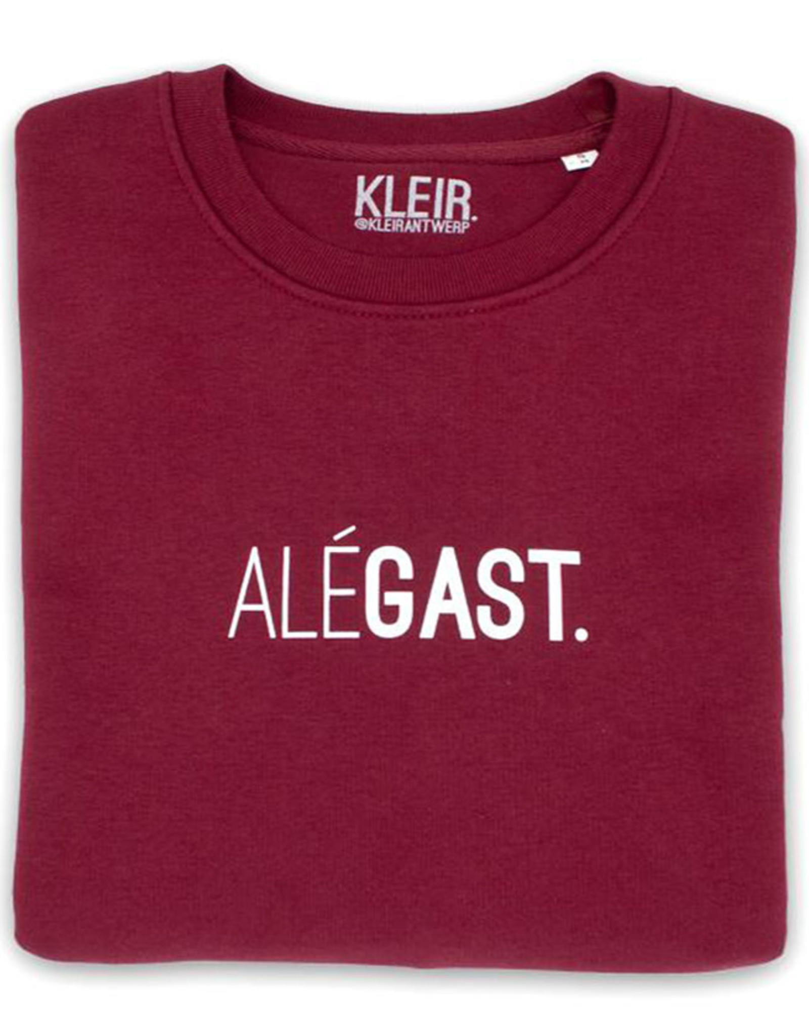 Kleir Sweater Biokatoen ALÉGAST-bordeaux