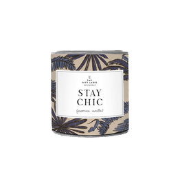 The Gift Label Geurkaars small-Stay chic (fresh cotton)