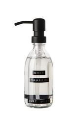 Wellmark Handzeep helder glas /zwarte pomp 250ml-shit happens just wash