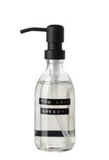 Wellmark Handzeep helder glas /zwarte pomp 250ml-you look awesome