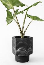 House Raccoon Hapi Self Watering Pot-black marble