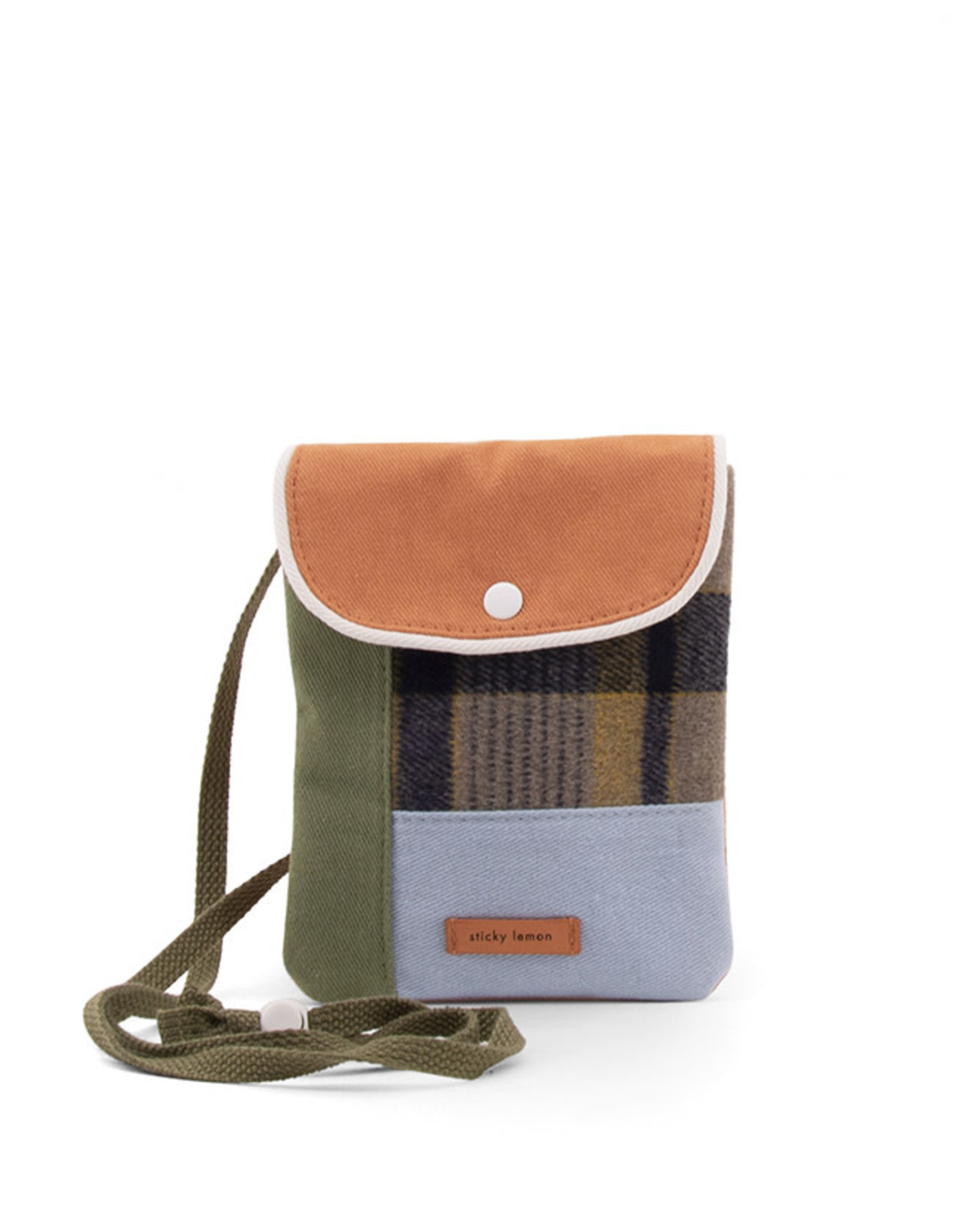 Sticky Lemon Wallet Bag Wanderer-forest green checks