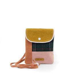 Sticky Lemon Wallet Bag Wanderer-sandy beige checks