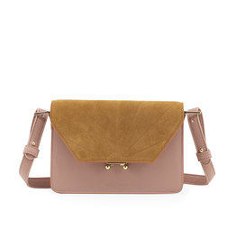 The Sticky Sis Club The Sticky Sis Club schoudertas SMALL-dusty pink/camel