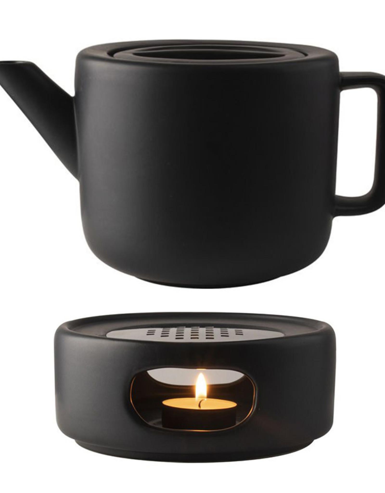 Fika Theepot 1,2L + Rechaud-black