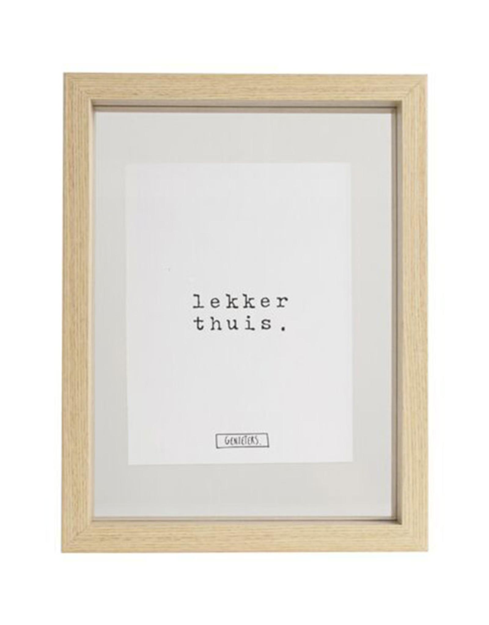 Fotolijst 17x22cm-geniet/lekker thuis