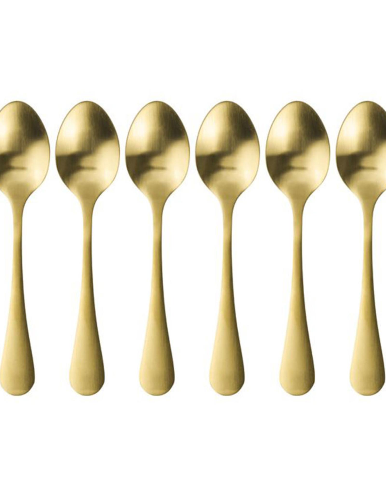 Koffielepeltjes Set 6stuks-goud