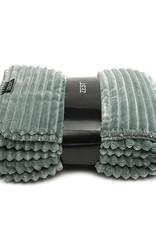 Fleece Plaid Rib 125x150cm-lichtgrijs