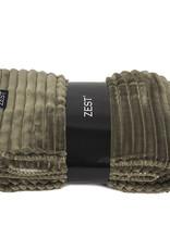 Fleece Plaid Rib 125x150cm-taupe