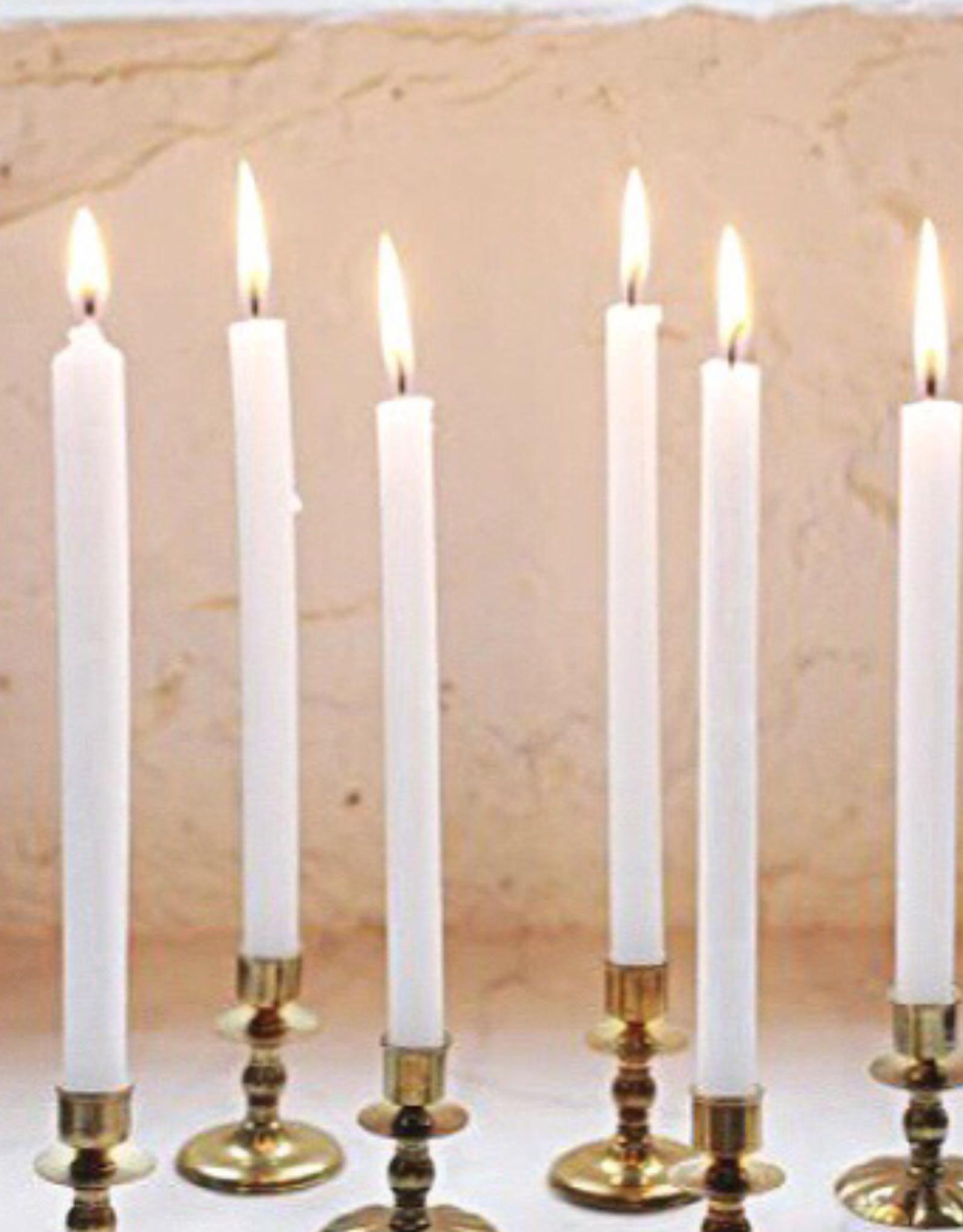 Rustik Lys Dinerkaarsen Set 30cm-white