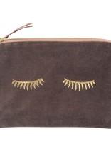 Artebene Cosmetic Bag Velvet Sleepy Eyes-taupe