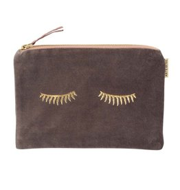 Artebene Cosmetic Bag Velvet Sleepy Eyes-taupe
