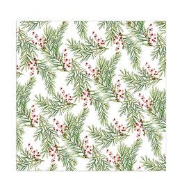 Servet Mistletoe 33x33cm-white