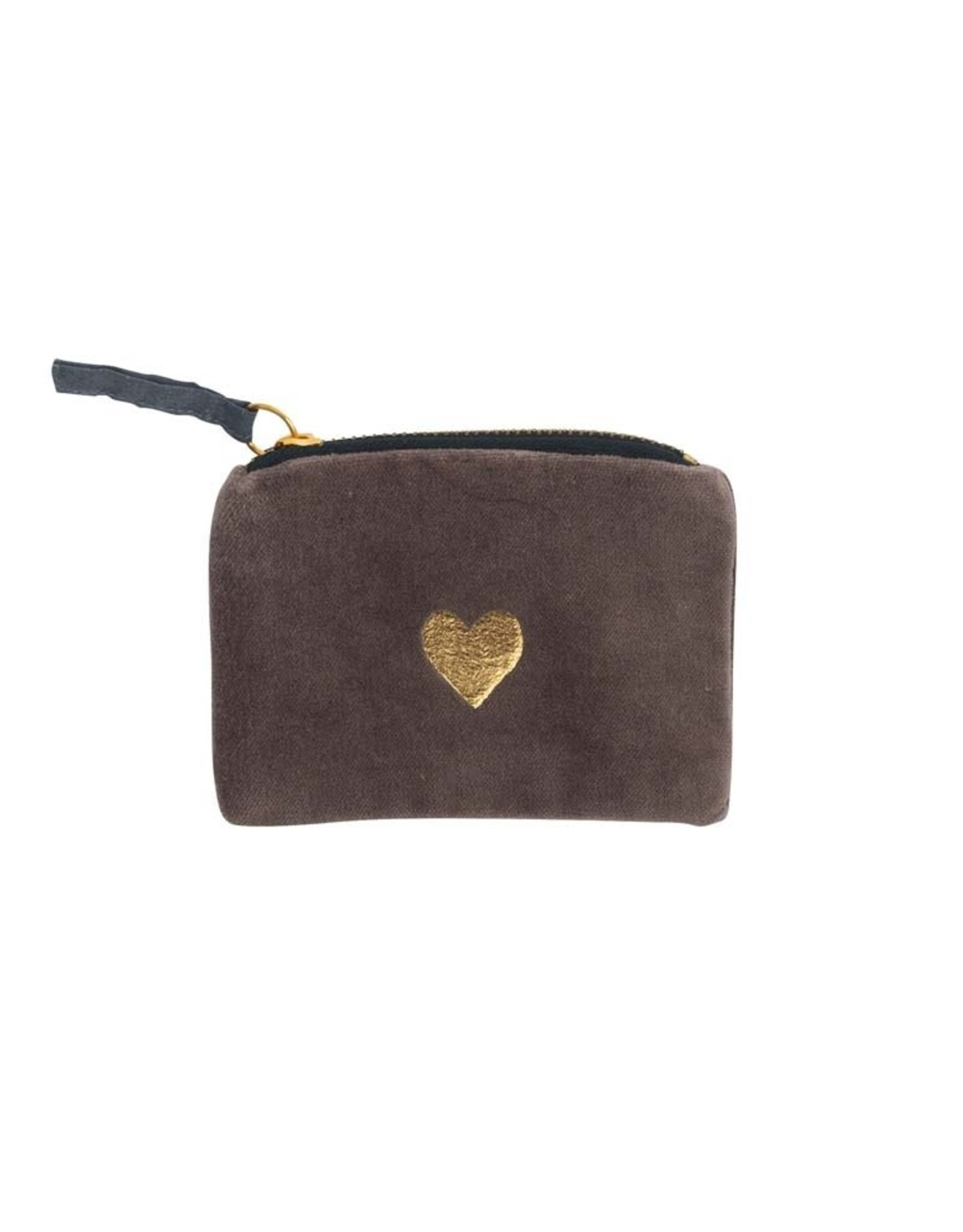 Artebene Wallet Velvet Heart-brown