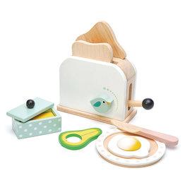 Ontbijt Toaster Set-eco rubberwood