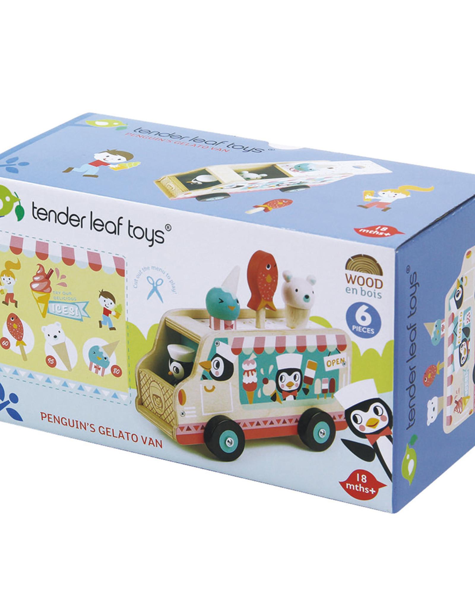 Pinguin's ijskarretje-eco rubberwood