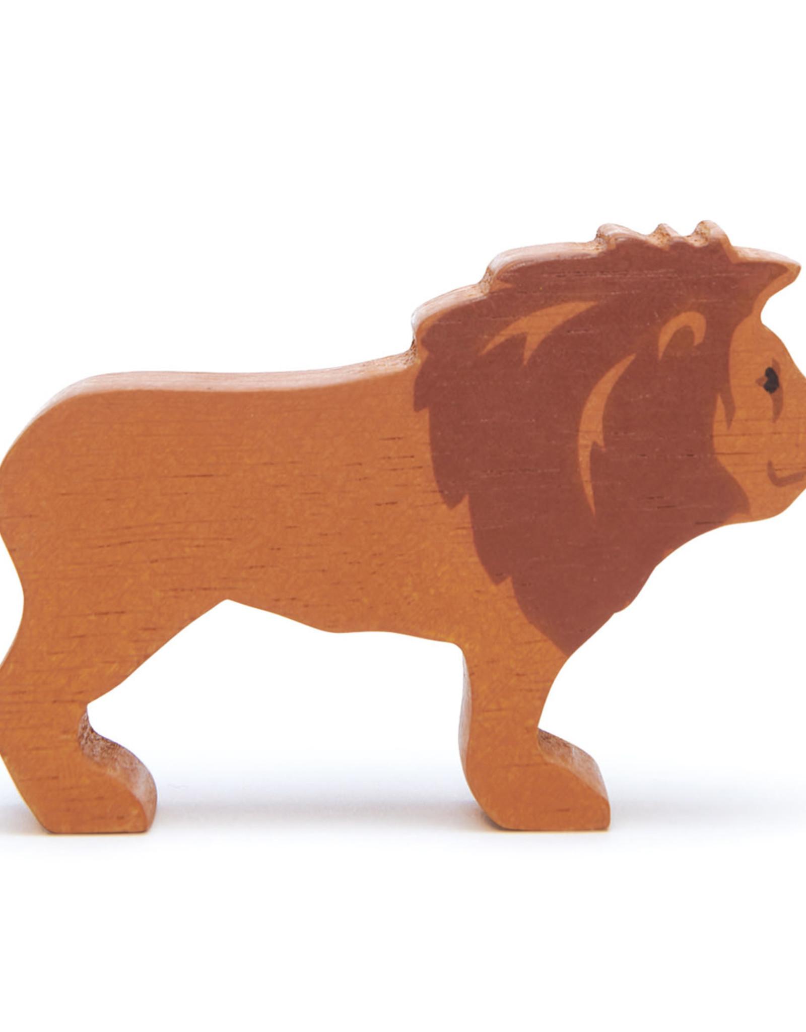 Safaridier Leeuw-eco rubberwood