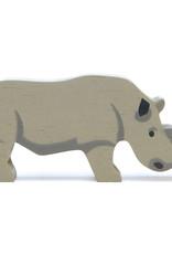 Safaridier Neushoorn-eco rubberwood