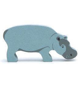 Safaridier Nijlpaard-eco rubberwood