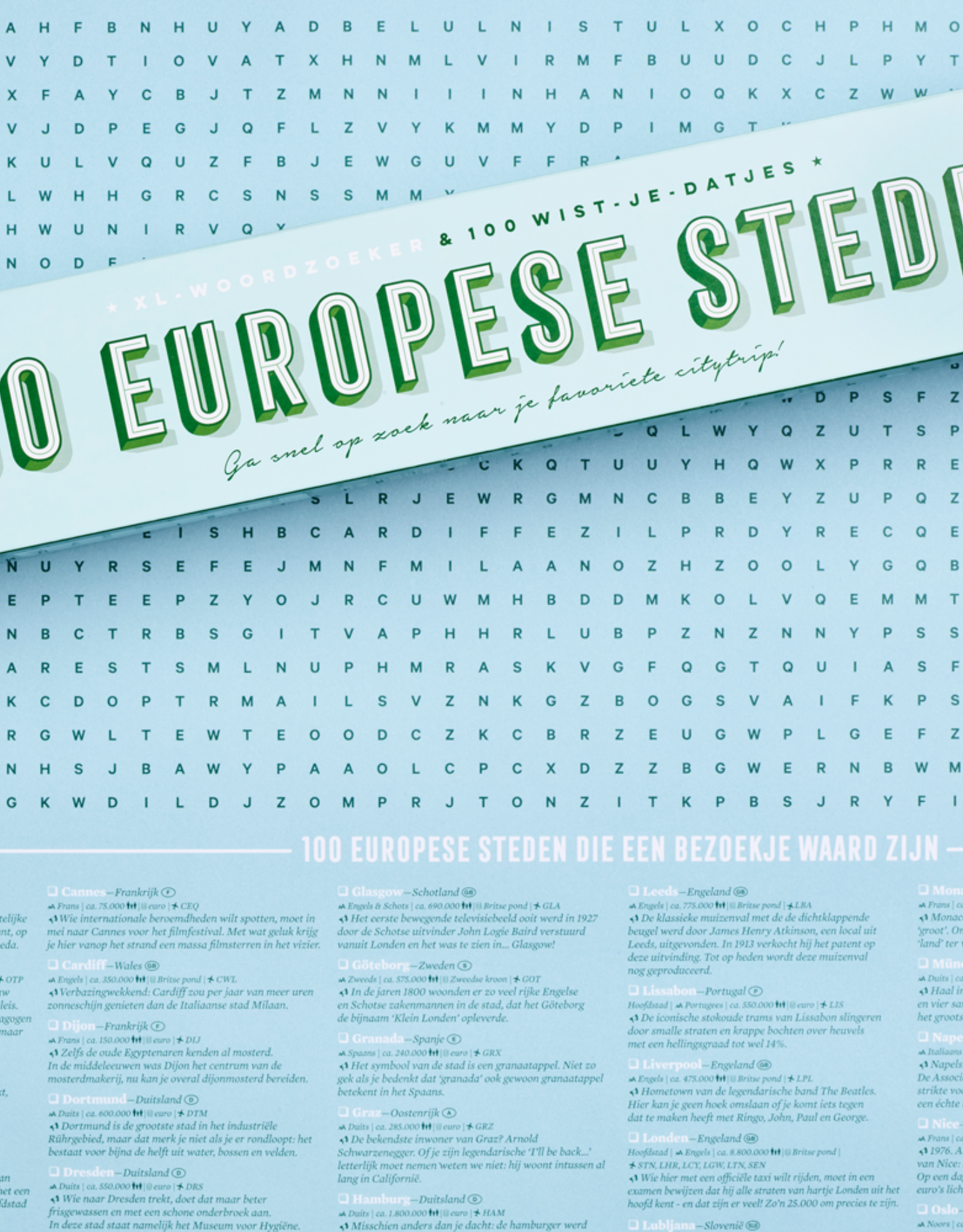 Stratier XL Spelposter STRATIER-100 Europese steden