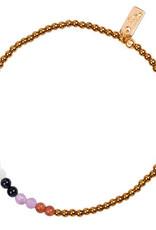 Jules Bean Armband Collectabean XL Douce Deux-jaspis/parelmoer/amethyst/blueStone