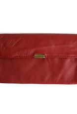 Flat Wallet-dark red