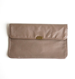 Flat Wallet-taupe