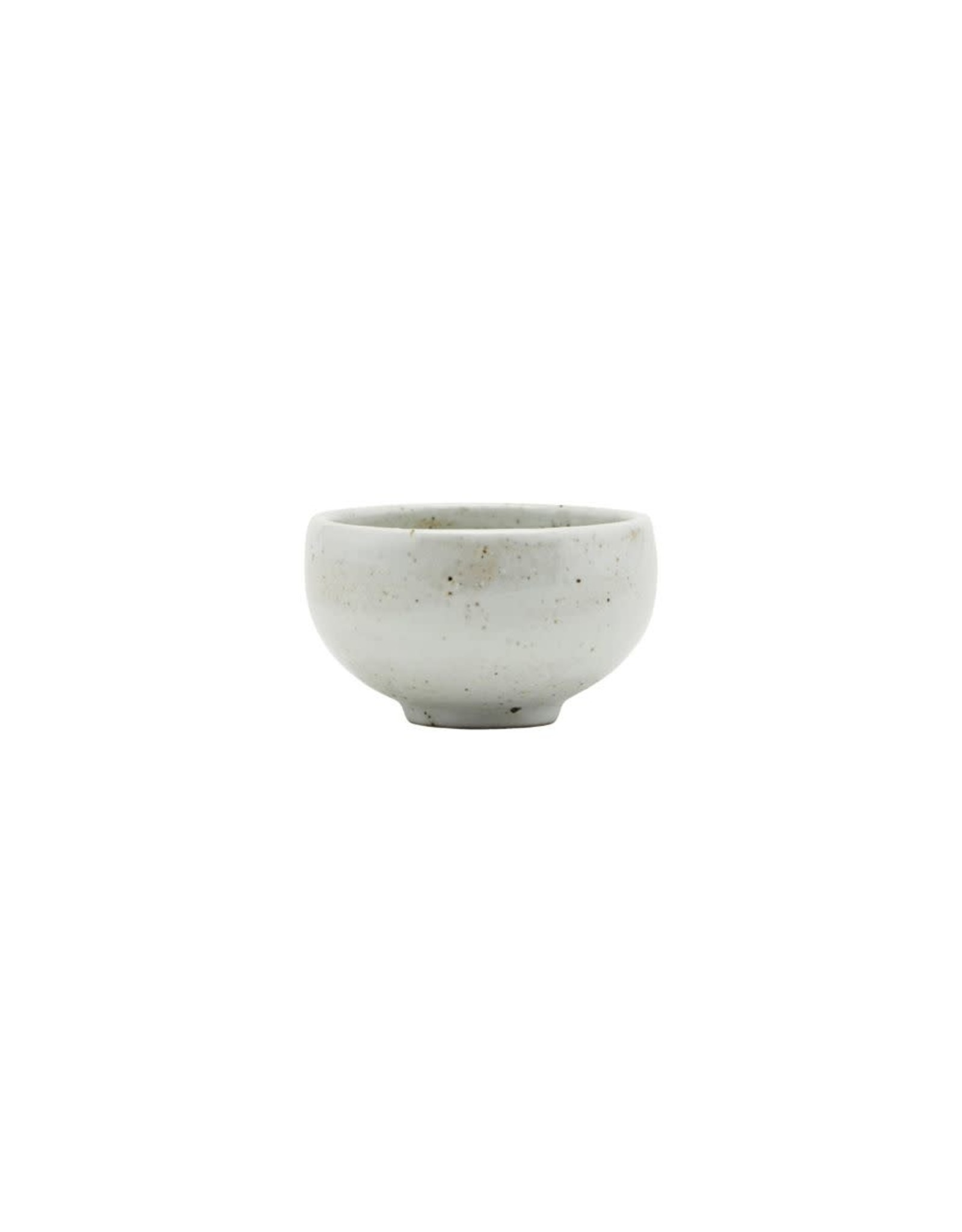 House Doctor Bowl Speckles 5x8,5cm-ivory