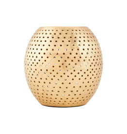 House Doctor Theelichthouder Perforated-gold