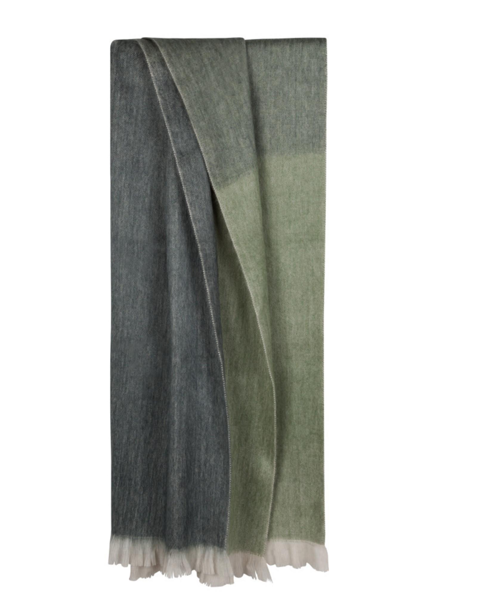 Bufandy Alpaca sjaal Ombre-emerald ocean
