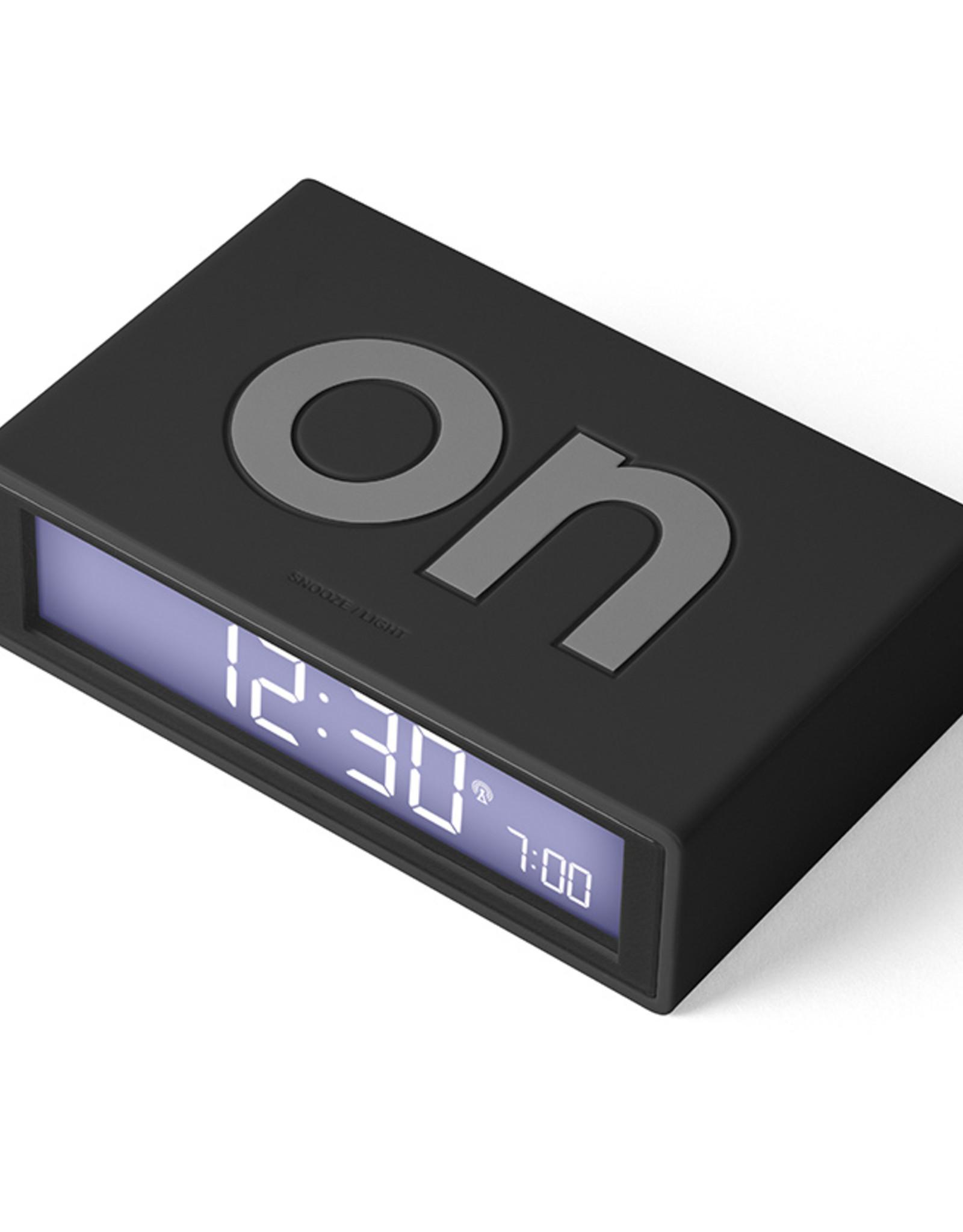 Lexon Flip wekker-black