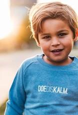 Kleir Sweater kinderen Biokatoen DOEDISKALM-lichtblauw