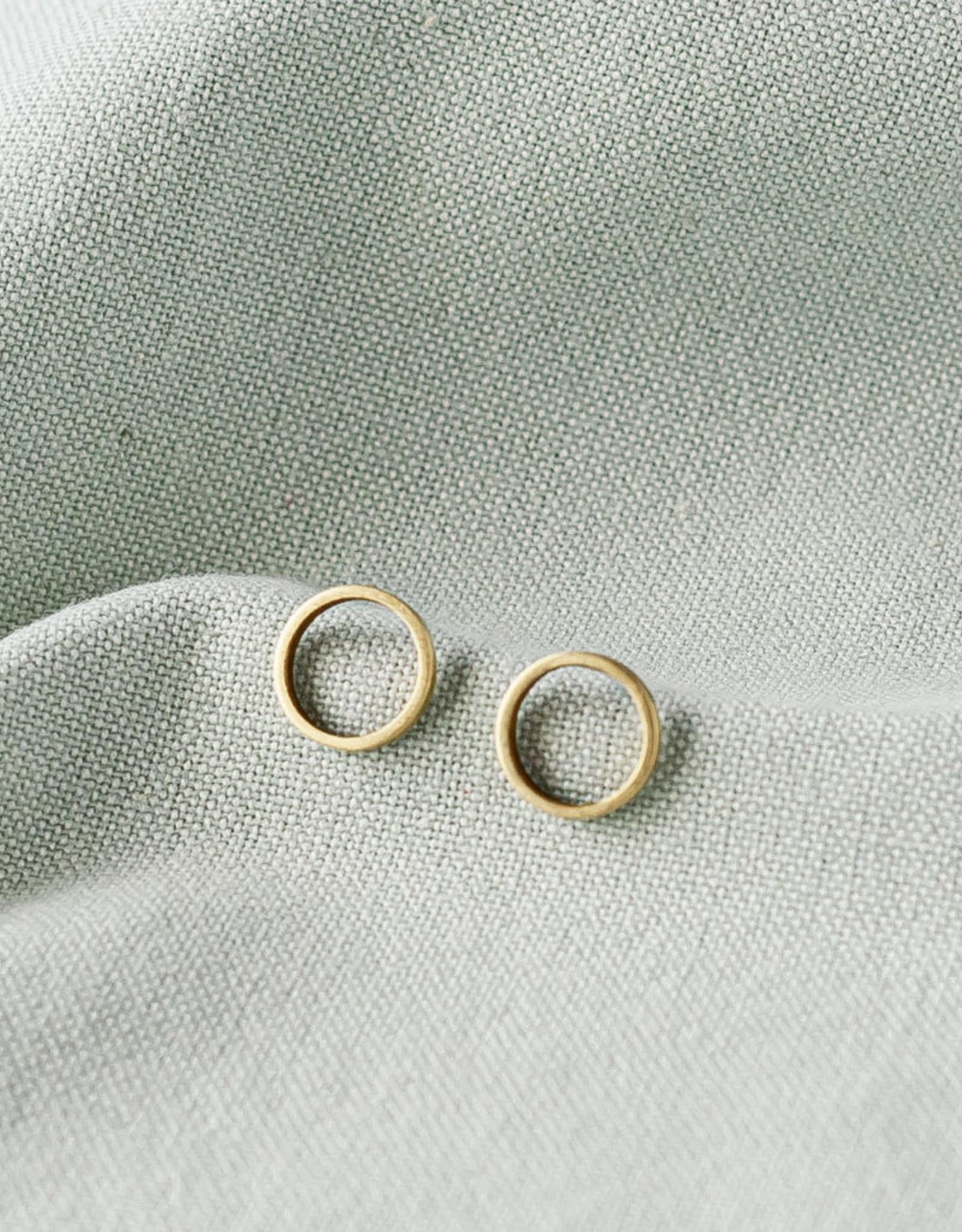 Iniminihomemade Oorbellen Brass Dot Open Studs 12mm-gold