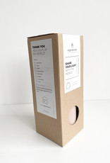 Kaarsen Pillar 7,5x20cm-natural brown