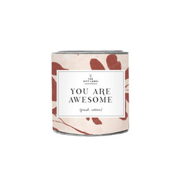 The Gift Label Geurkaars small-You are awesome (fresh cotton)