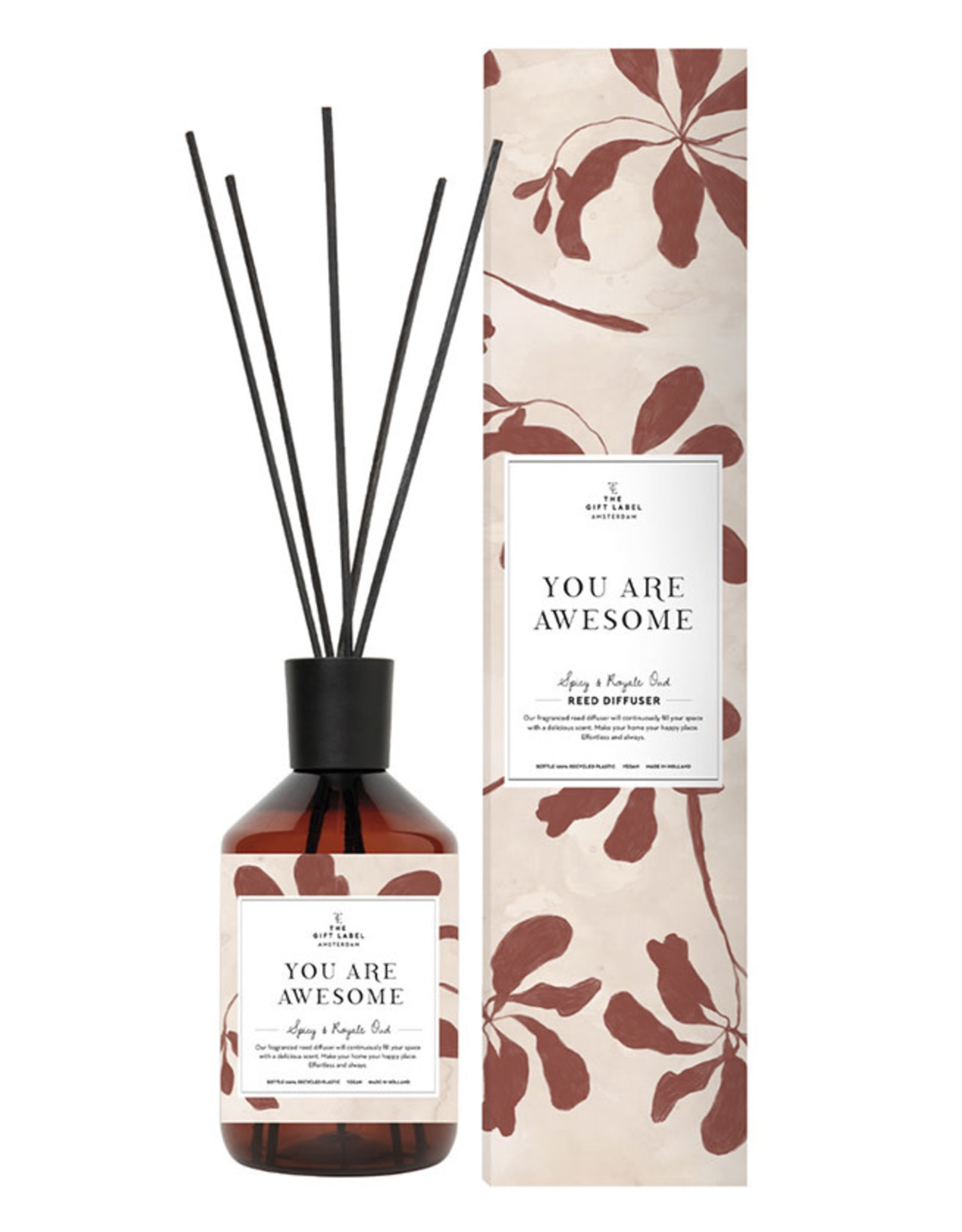 The Gift Label Home Reed Diffuser-You are awesome (spicy & royal oud)