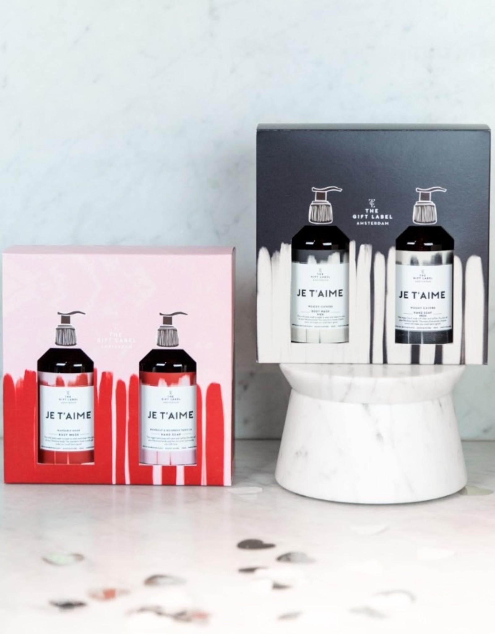 The Gift Label Giftbox Her-Je T'aime (handzeep & bodywash)