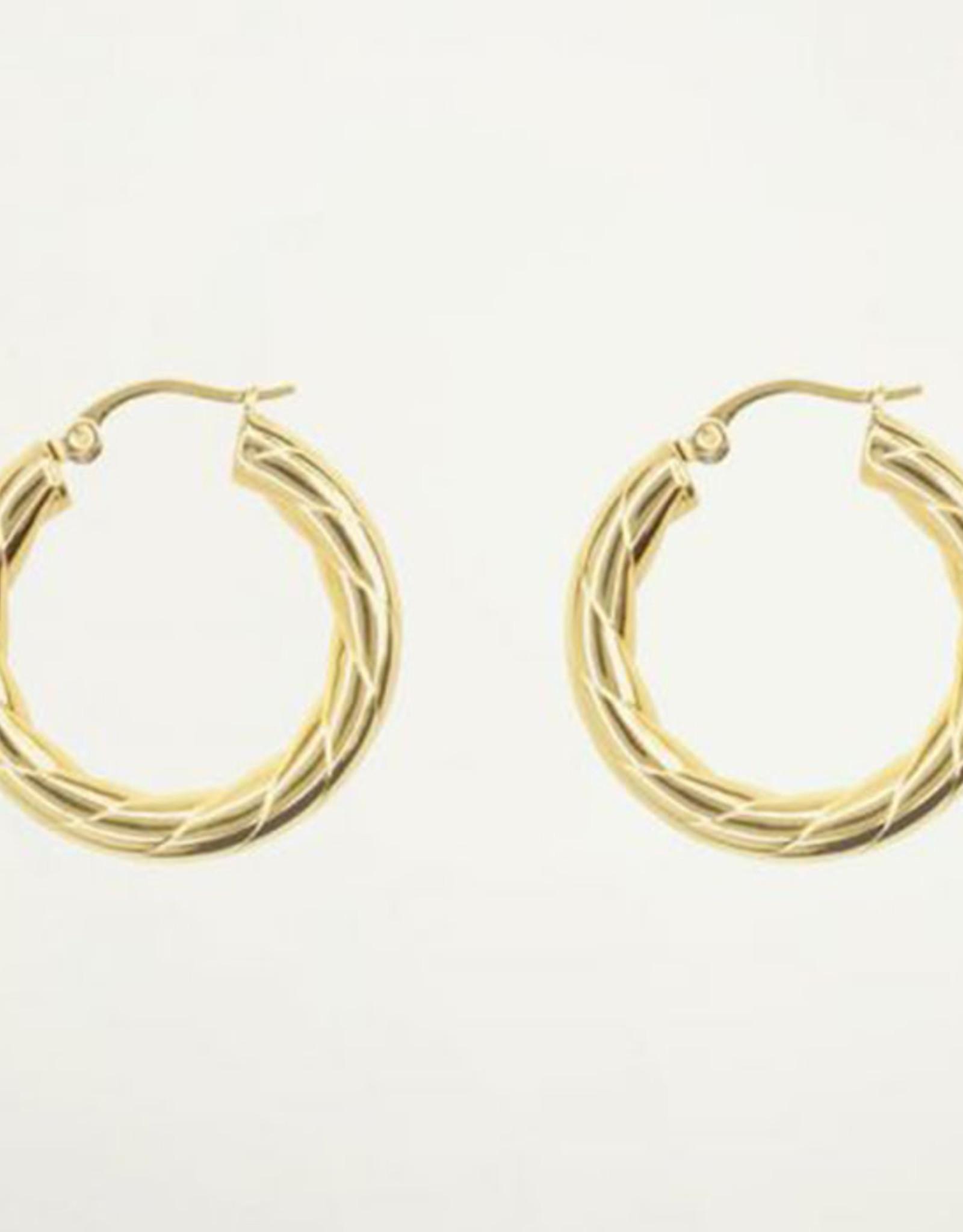 My Jewelry Oorbellen Creole gedraaid large-gold