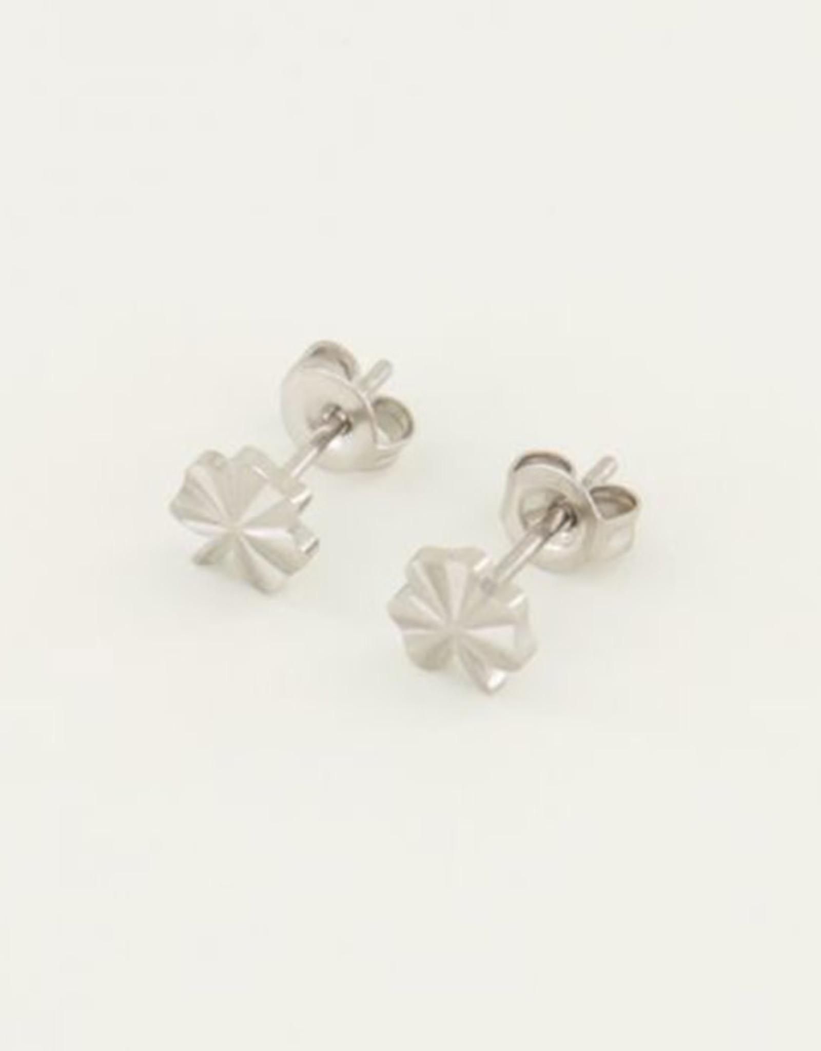 My Jewelry Oorbellen Studs Clover-silver