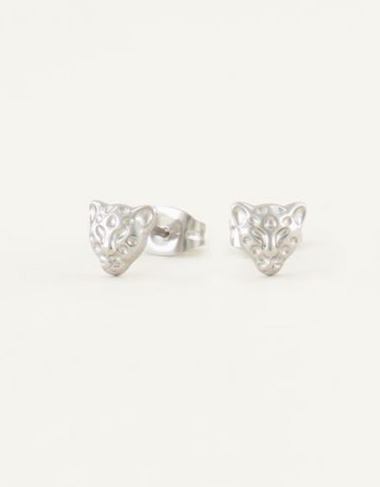 My Jewelry Oorbellen Studs Leopard-silver