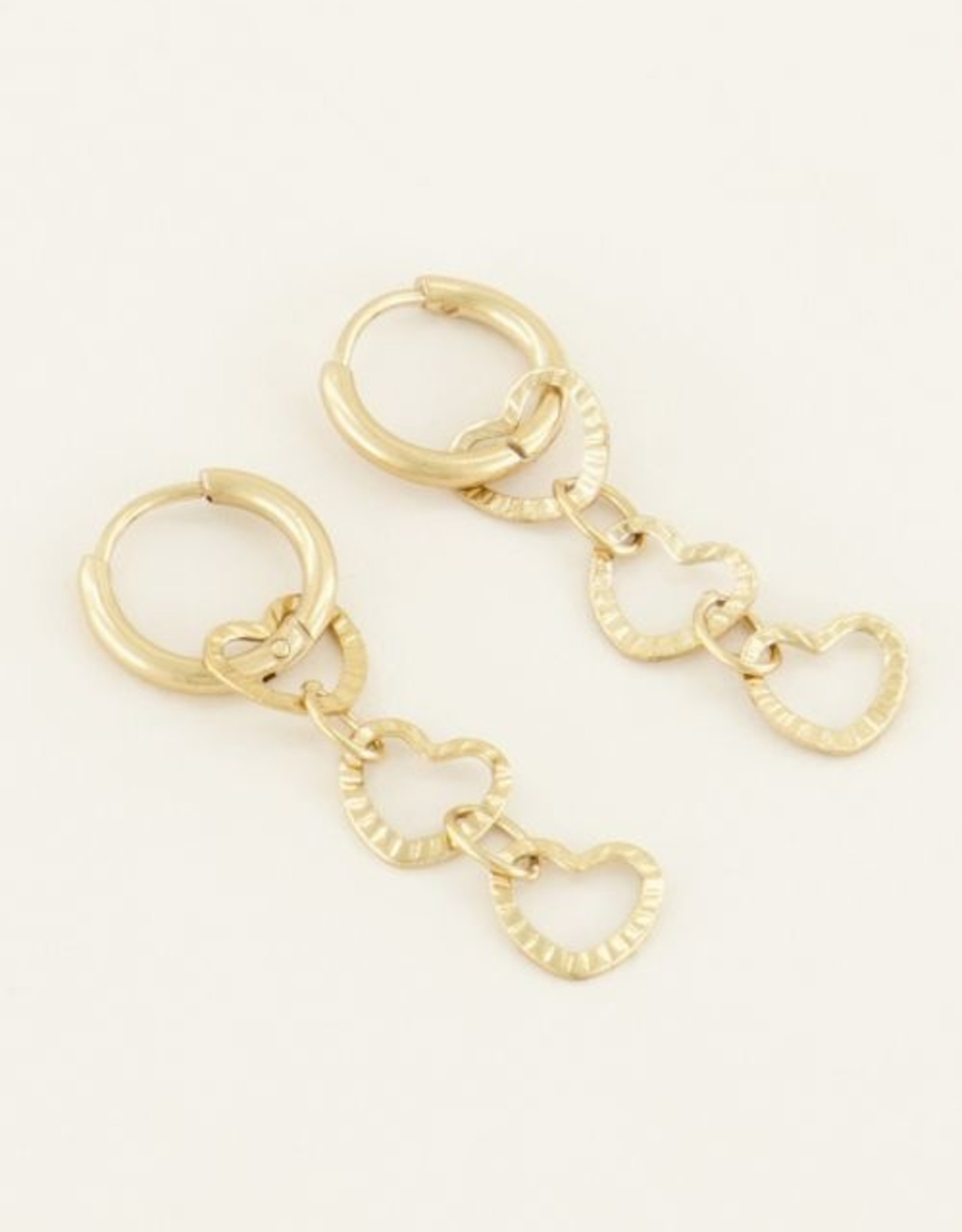 My Jewelry Oorbellen Creole 3 Hearts-gold