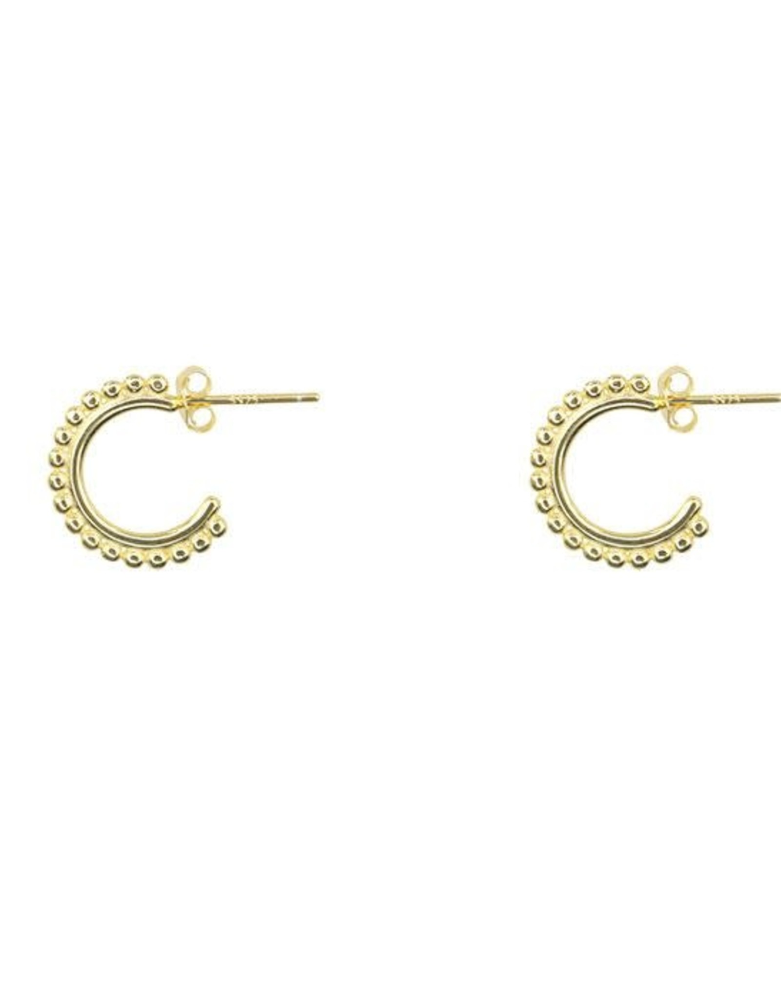 My Jewelry Oorbellen Open Creole dots-gold
