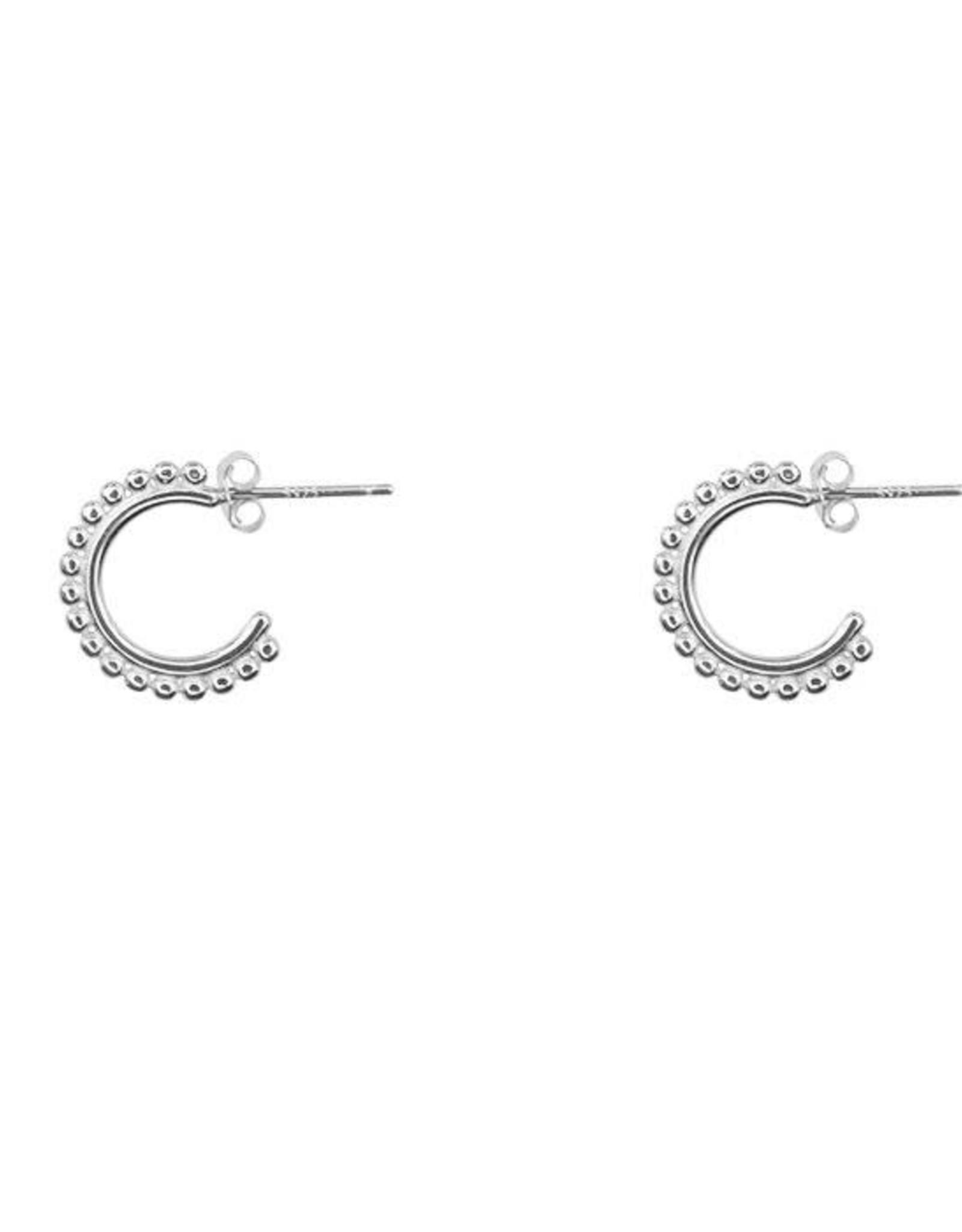 My Jewelry Oorbellen Open Creole dots-silver
