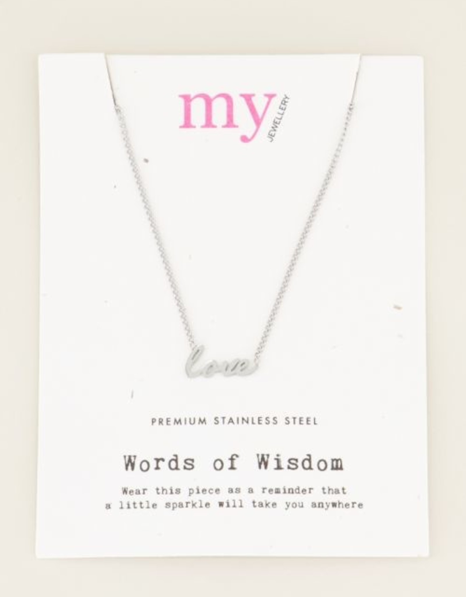 My Jewelry Ketting 'Love'-silver