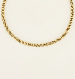 My Jewelry Ketting brede schakels-gold